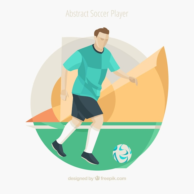 Soccer player in abstract style