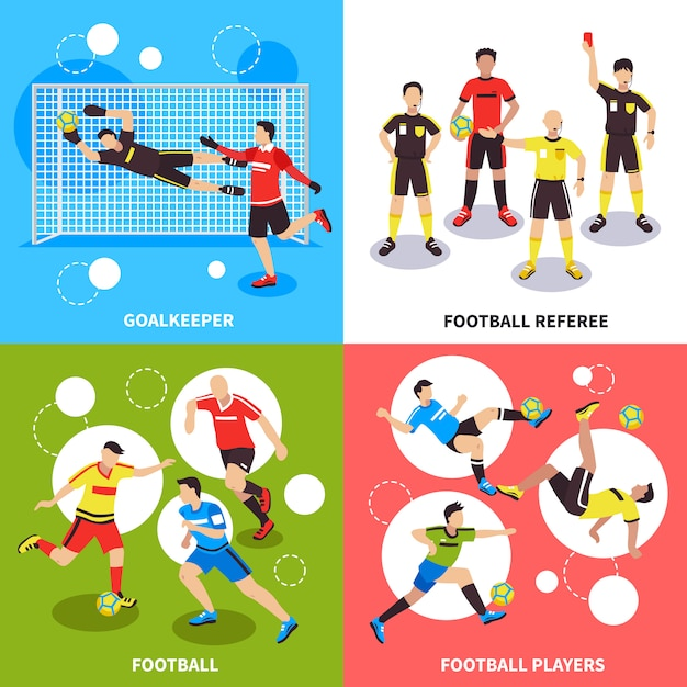 Soccer players  concept Free Vector