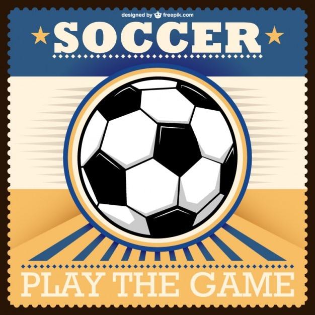 Soccer retro vector