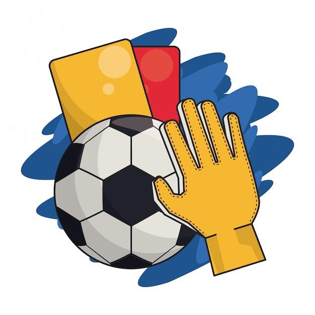 Soccer sport game Premium Vector