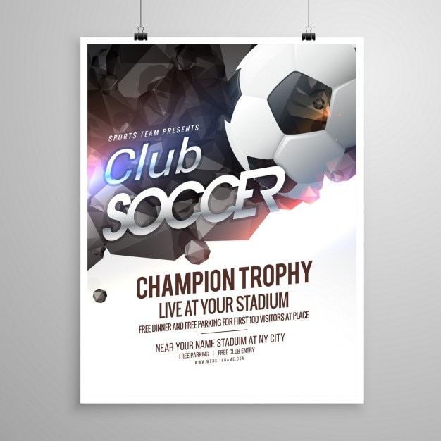 Soccer Sports Brochure Vector  Free Download