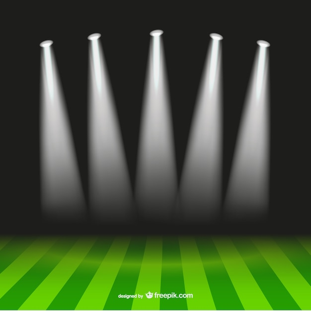 Soccer spotlight stadium Vector | Free Download