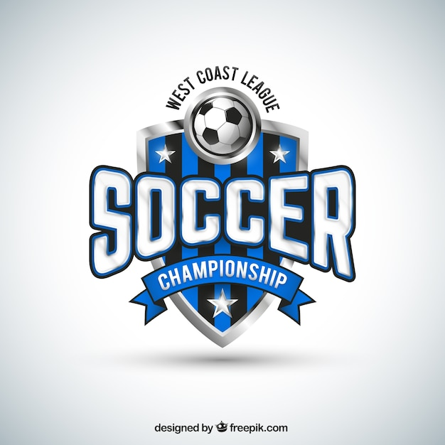 soccer team badge vector free download