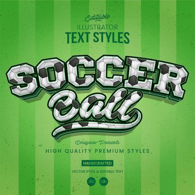 Soccer text style Premium Vector