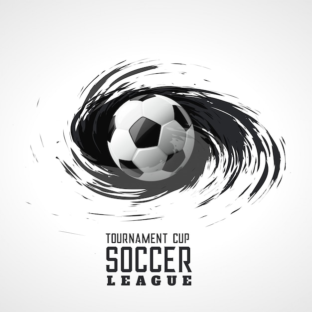 soccer tournament abstract swirl grunge background Free Vector