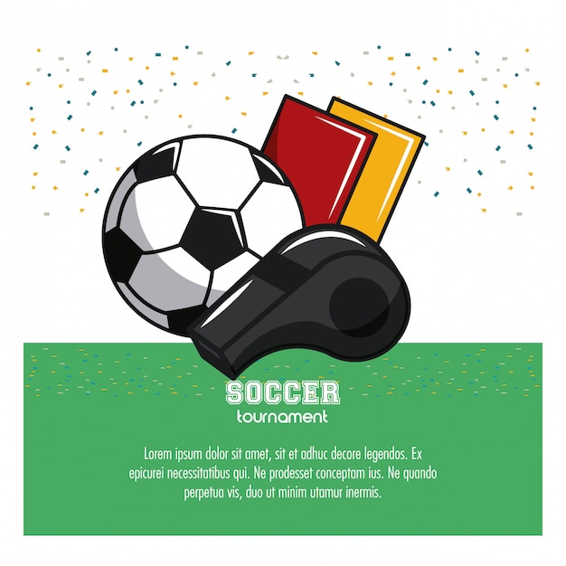 Soccer tournament infographic with elements Premium Vector