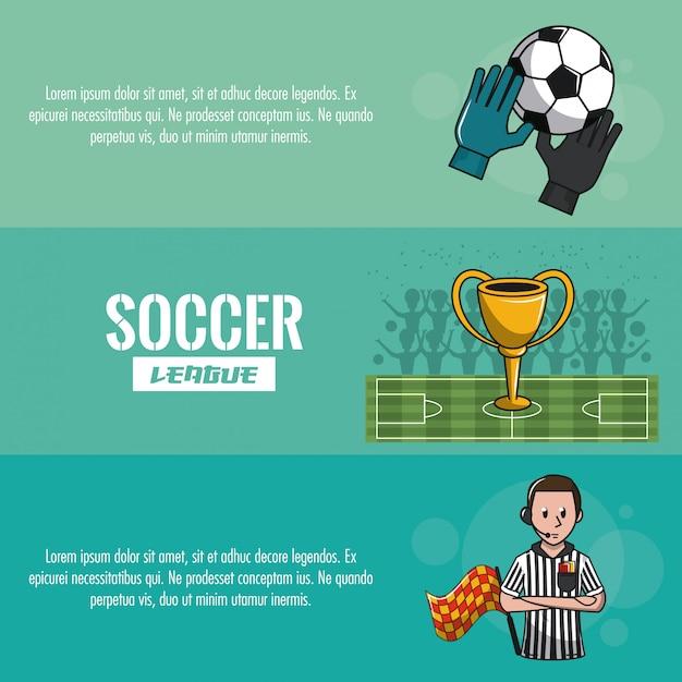 Soccer tournament infographic Premium Vector