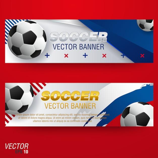 soccer tournament modern sport banner template vector design vector