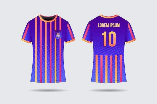 Concetto uniforme di calcio Vettore gratuito