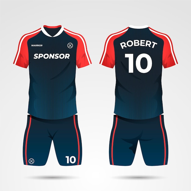 Soccer uniform concept Free Vector
