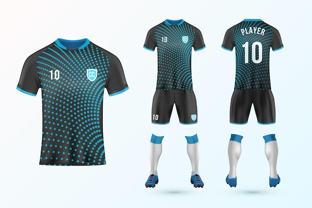 Soccer uniform template set Premium Vector
