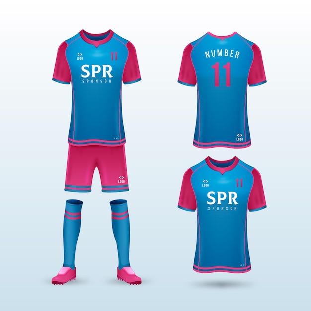 Soccer uniform Free Vector