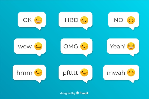 Social application for texting with emojis Free Vector