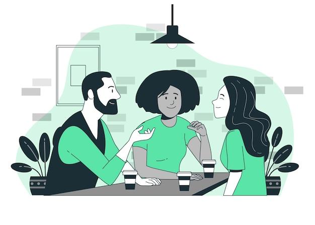 Иллюстрация концепции социального взаимодействия Бесплатные векторы