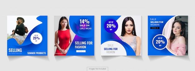 Social media advertising post design instagram timeline Premium Vector