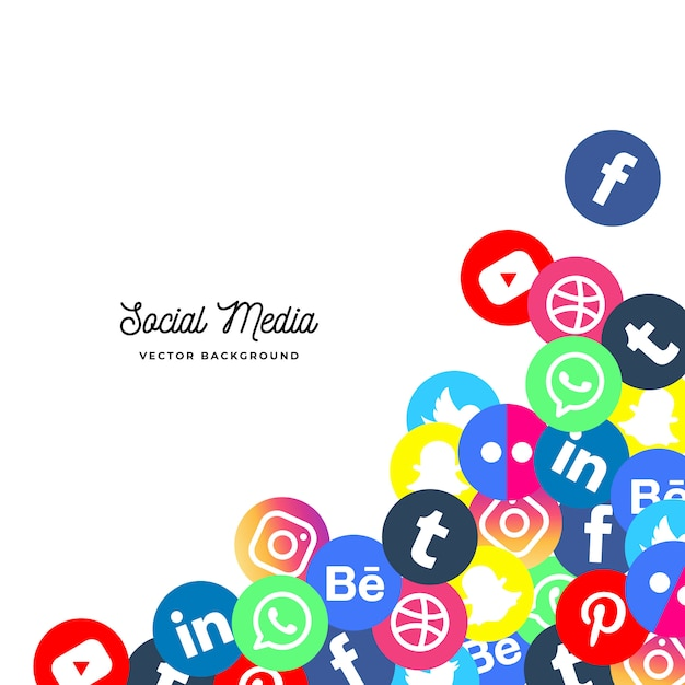 Social media background Free Vector