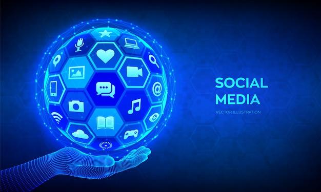 Social media background Free Vector