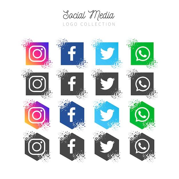 Social media banner collection Free Vector