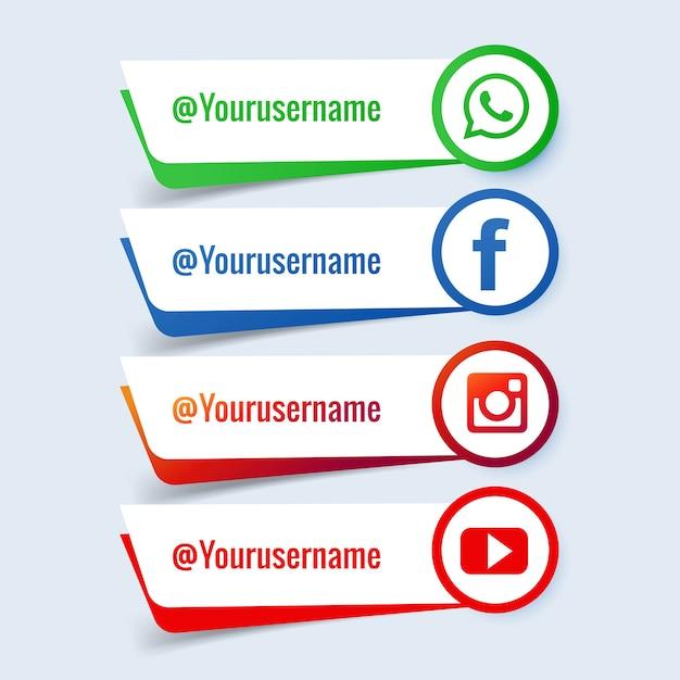 Social media banner set Free Vector