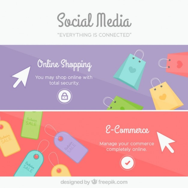 Social media banners Vector | Free Download