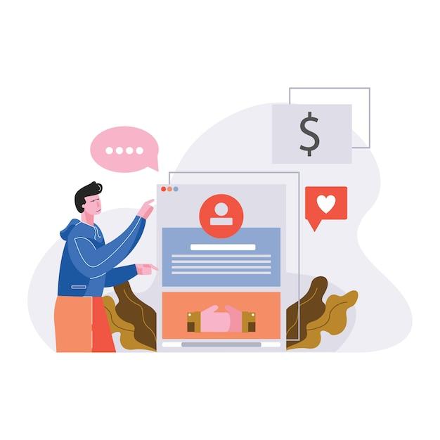Social media business network vector illustration Premium Vector