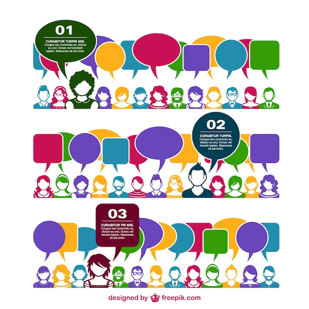 Royalty-Free Vector. Download Business People Group Chat Communication  Bubble, Businesspeople Discussing Social Network Stock ...