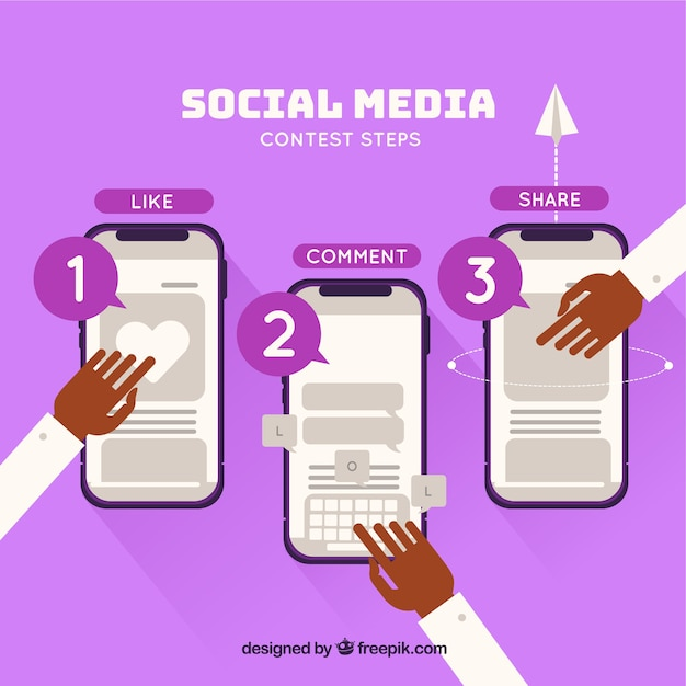 Social media contest concept Vector | Free Download