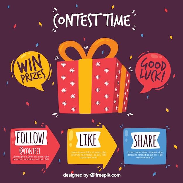 Design del concorso di social media Vettore gratuito