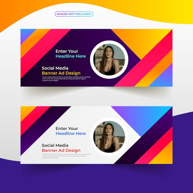 Social media cover banner Premium Vector