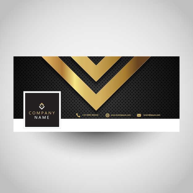 Social media cover with abstract metallic design Free Vector