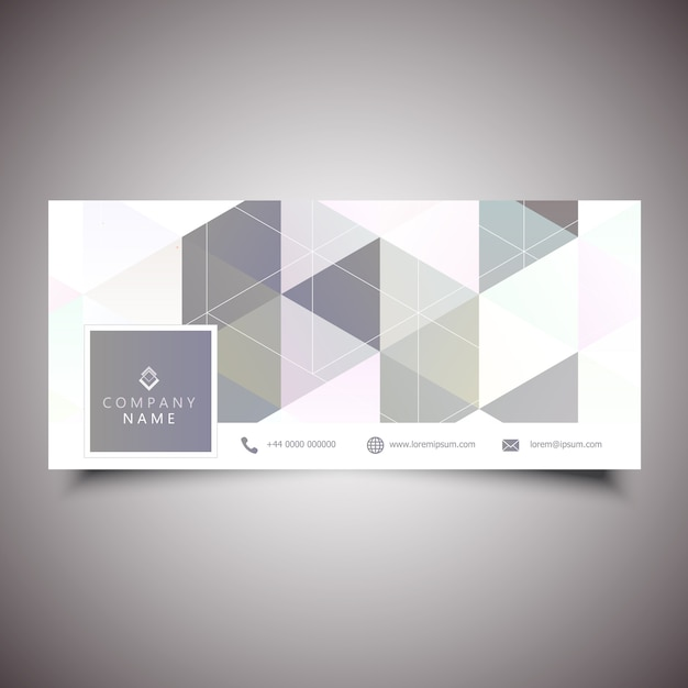 Social media cover with low poly design Free Vector