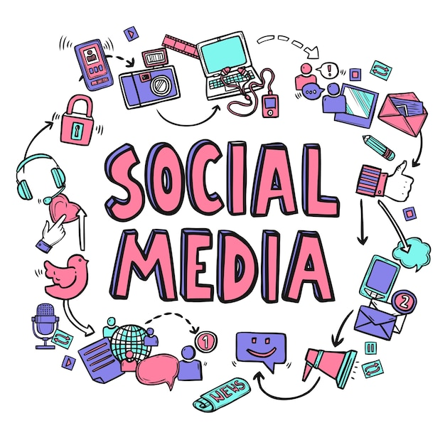 Social Media Design Concept Vector | Free Download