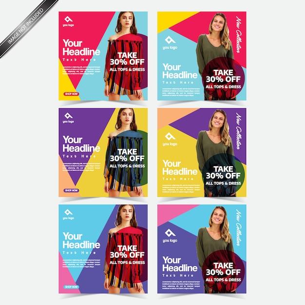 Social media design post instagram template Premium Vector