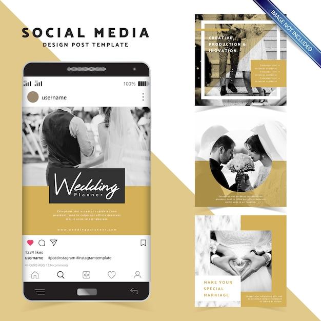 Social media design stylish post template Premium Vector