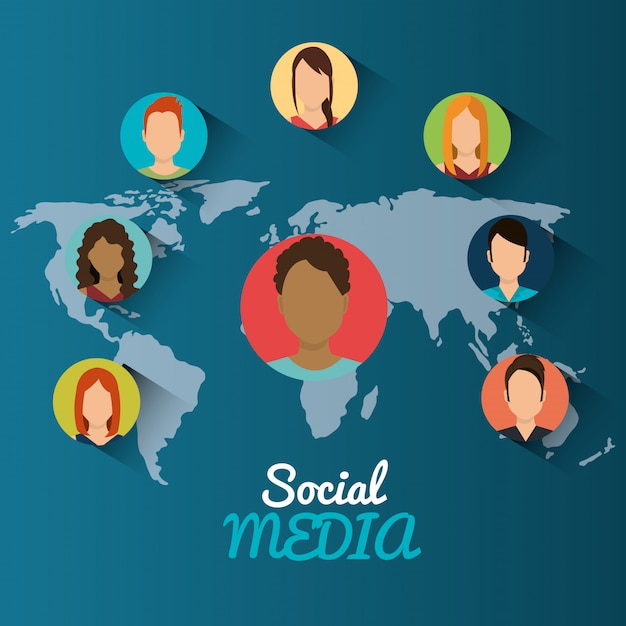 Social media design Free Vector