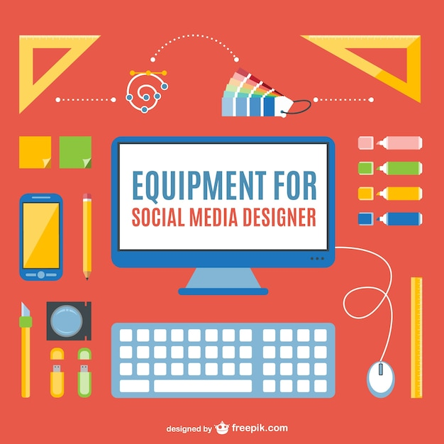 Social media designer pack Free Vector