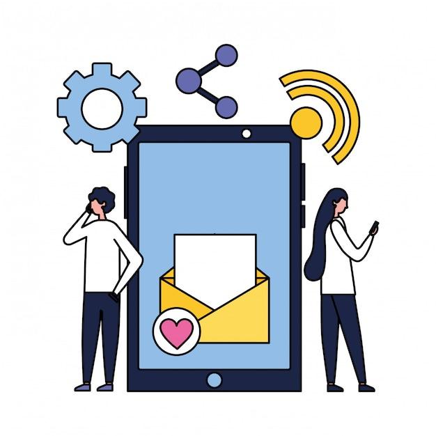 Social media digital Premium Vector