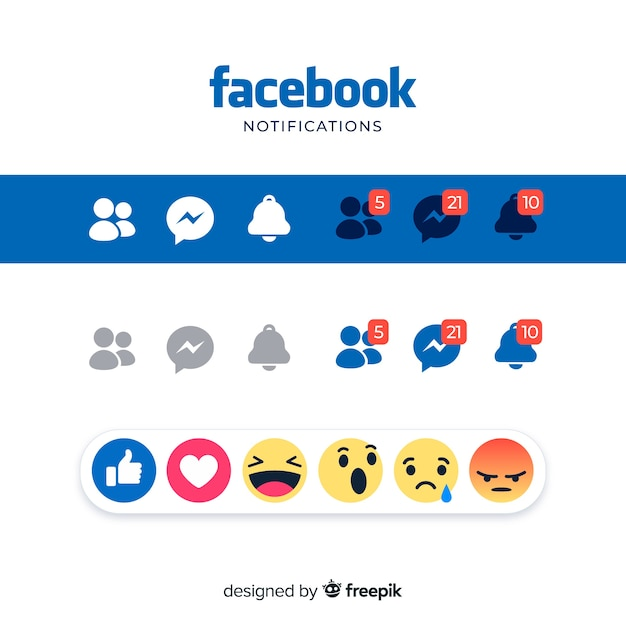 Social media elements Free Vector