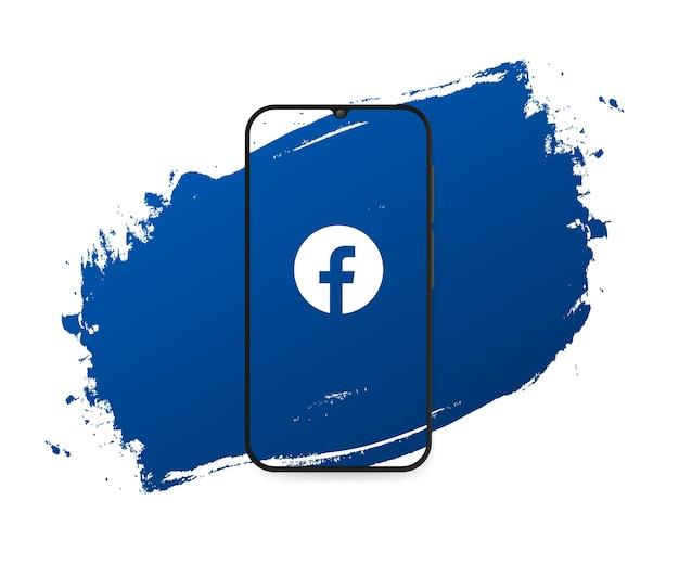 Social media facebook splash Free Vector