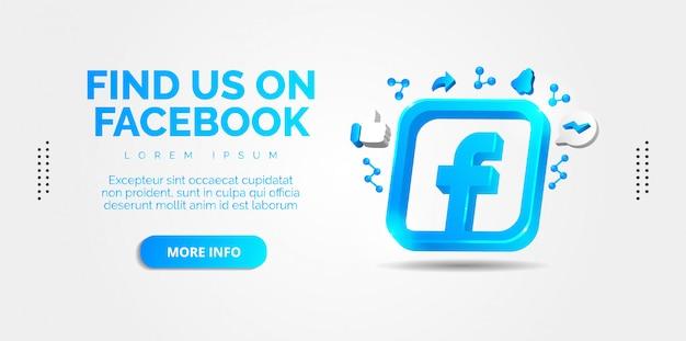 Social media facebook. Premium Vector