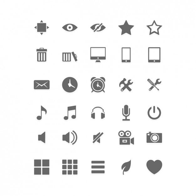 Social Media Flat Icon Set Free Vector