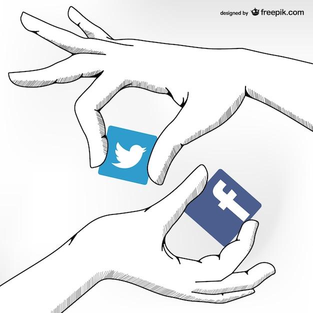 Social media friendship concept Free Vector