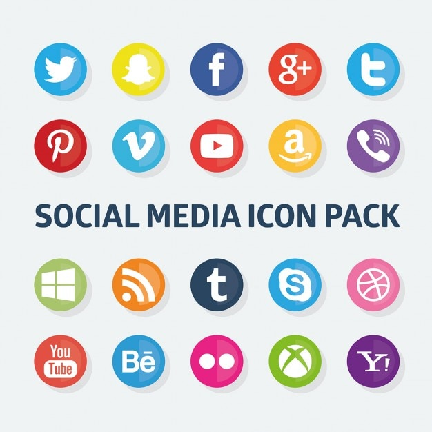 Social media icons pack Vector | Free Download