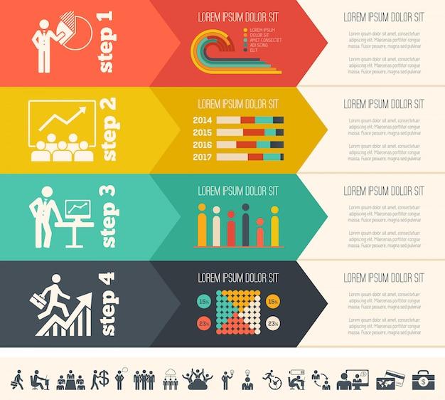 Social media infographic template. Premium Vector