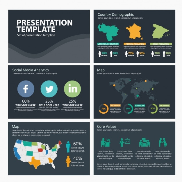 Social Media Infographic Template Vector Free Download