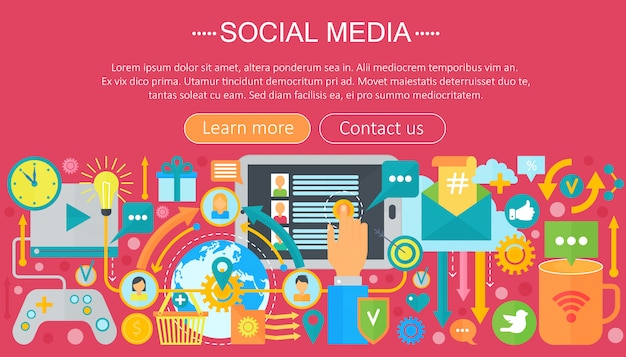 Social media infographics template design Premium Vector