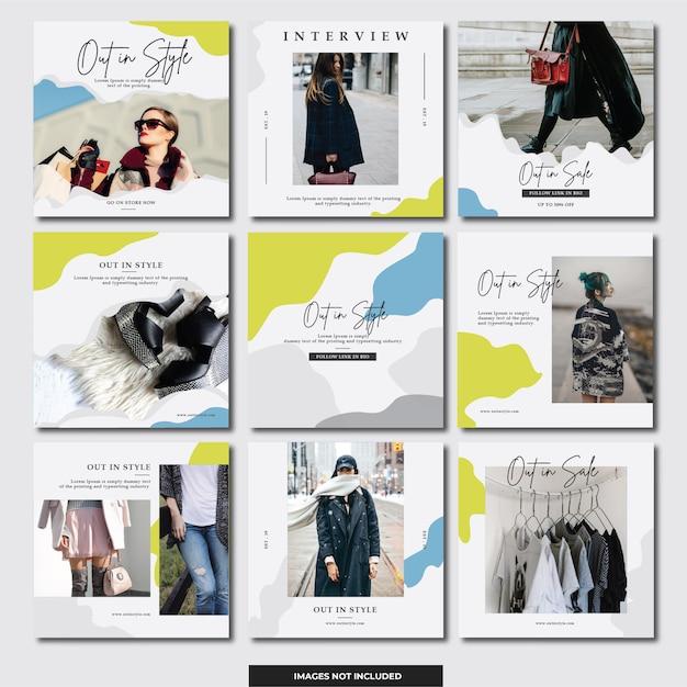 Social media instagram banner (fashion) Premium Vector