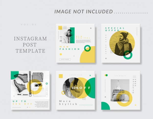 Social media instagram post template Premium Vector