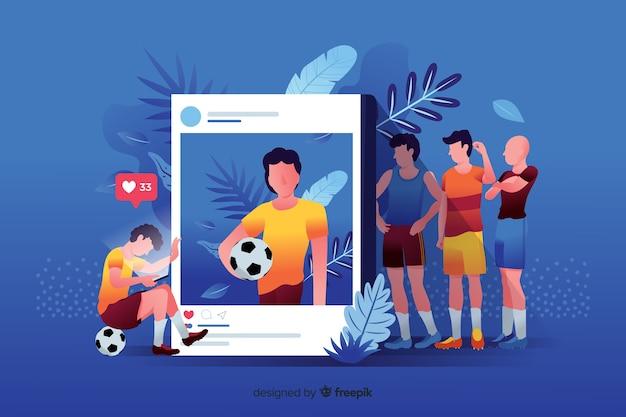Social media killing friendship concept Free Vector