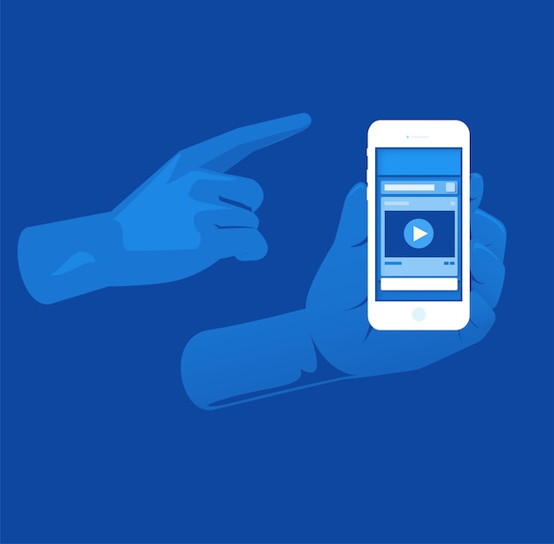 Social media layout popup layer with blue color tone Premium Vector